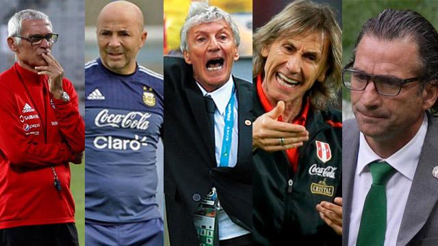 Los cinco entrenadores argentinos que estarán presentes en Rusias 2018.