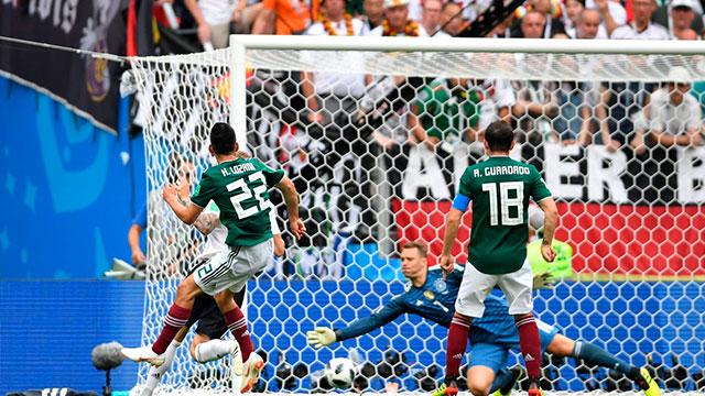 Con un golazo, México derrotó a Alemania en su debut en Rusia 2018.