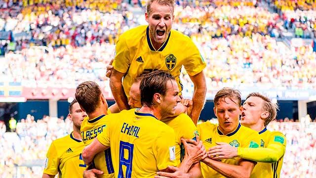 Rusia 2018: Con un gol de penal, Suecia le ganó a Corea del Sur en su debut