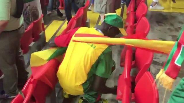 El gesto de los hinchas de Senegal tras la victoria ante Polonia