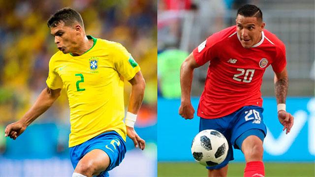 Brasil enfrenta a Costa Rica y va por su primera victoria en el Mundial