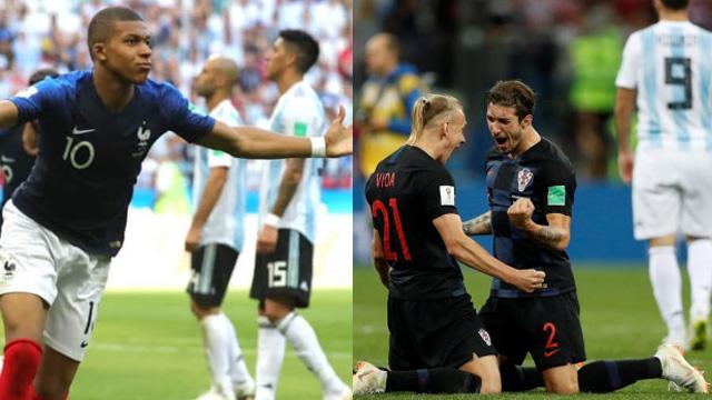 Croacia y Francia dejaron en el camino a Argentina y se verán en la Final.