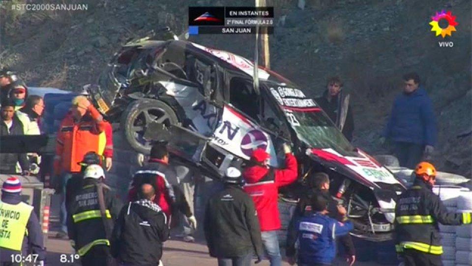 Video: Impactante accidente del piloto Matías Milla, en el