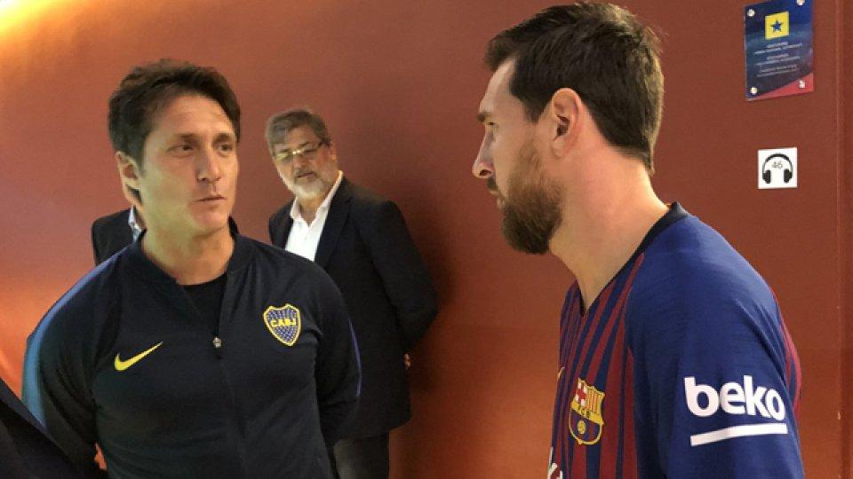 Guillermo repasó la caída de su equipo ante el Barcelona de Messi.