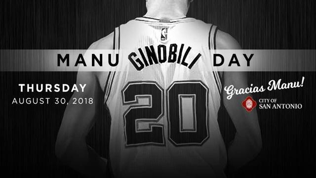 Cada 30 de agosto San Antonio celebrará el Día de Manu Ginóbili.