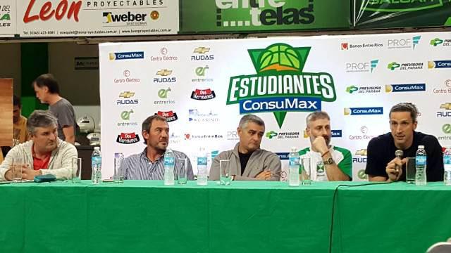 En Concordia, se presentó el plantel de Estudiantes.