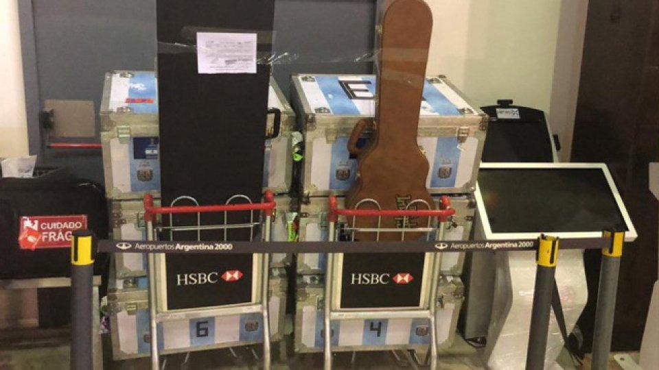Algunos objetos de la delegación argentina que secuestró la AFIP.