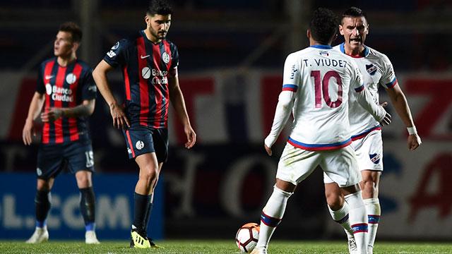San Lorenzo perdió con Nacional y quedó eliminado de la Copa Sudamericana