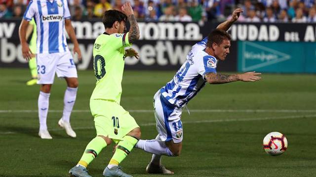 Barcelona perdió el invicto ante Leganés.