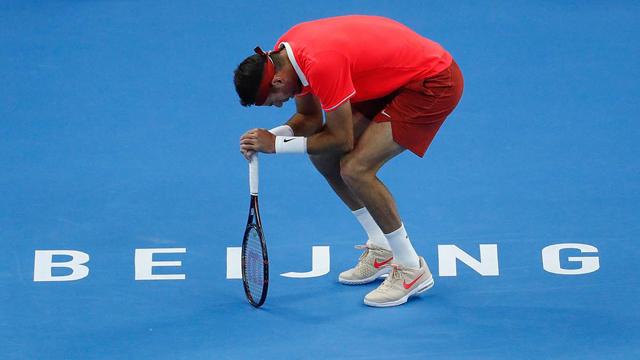 Del Potro perdió ante Basilashvili la final en Beijing.
