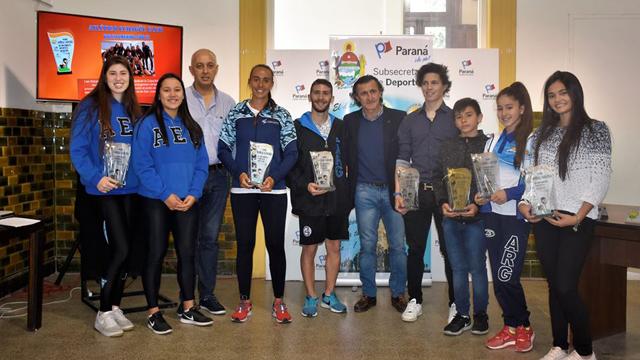 Fueron reconocidos los destacados deportistas de septiembre.