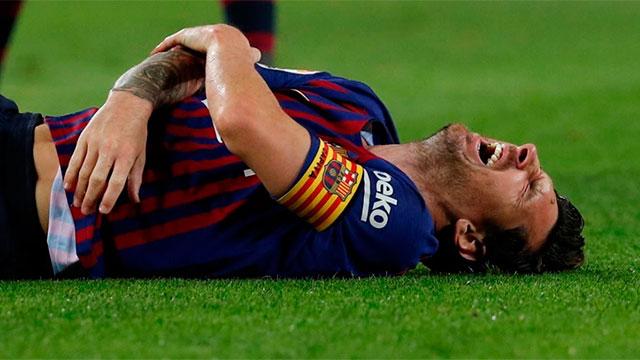 Video: Messi sufrió una fractura de radio en su brazo derecho y estará tres semanas sin jugar