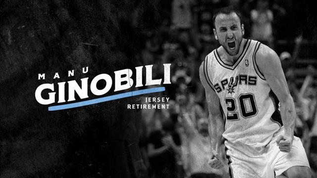 Manu jugó en los Spurs 16 temporadas , donde ganó cuatro campeonatos.