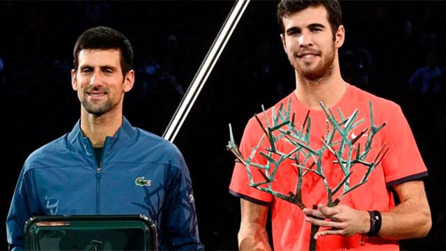 Karen Khachanov dejó con las ganas de un nuevo título a Novak Djokovic.