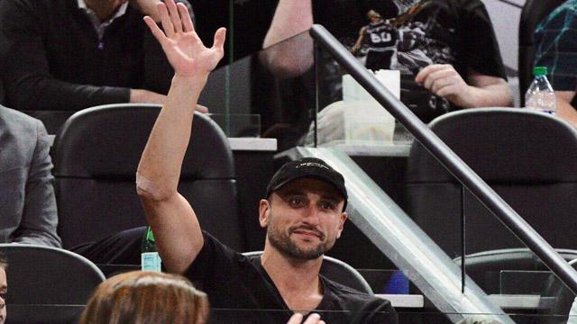 Manu Ginobili volvió a su casa para presenciar un encuentro de los Spurs.