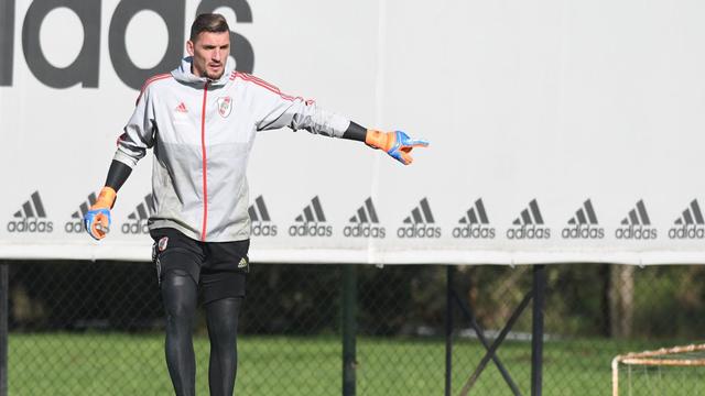 Armani palpitó la final ante Boca por la Copa.
