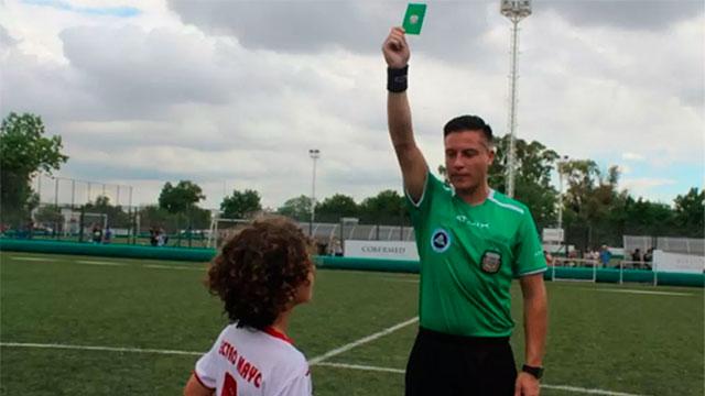 AFA implementó la novedosa tarjeta verde para el fútbol infantil: como será su aplicación