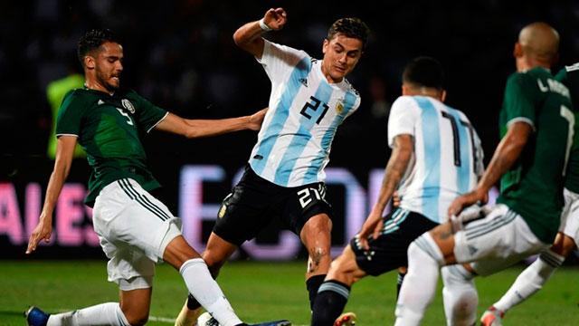 Argentina iguala frente a México en un nuevo amistoso