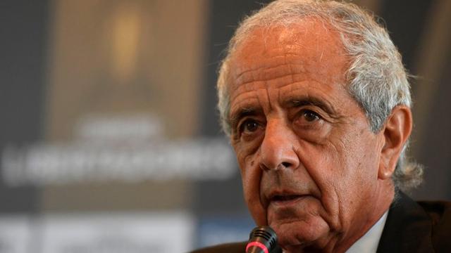 El dirigente Millonario está en Paraguay para una reunión en Conmebol.