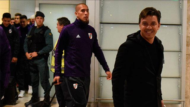 River llegó a España para disputar la Superfinal.