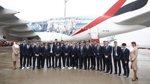 Real Madrid dejó la capital española rumbo a los Emiratos Arabes