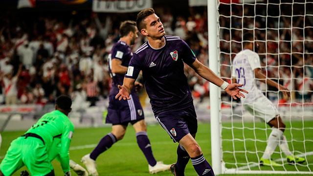 Con dos goles de Borré, River lo da vuelta y supera a Al Ain en su debut en el Mundial de Clubes