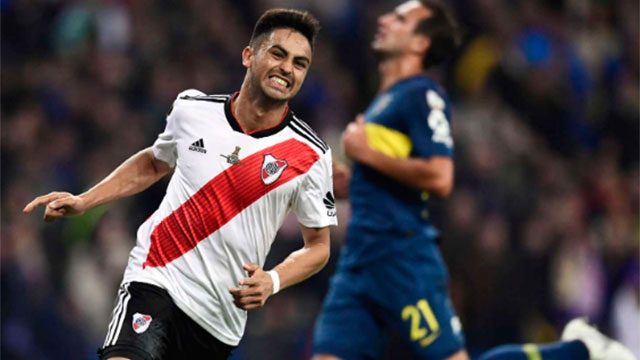 El Pity marcó el recordado gol del equipo de Gallardo en Madrid.
