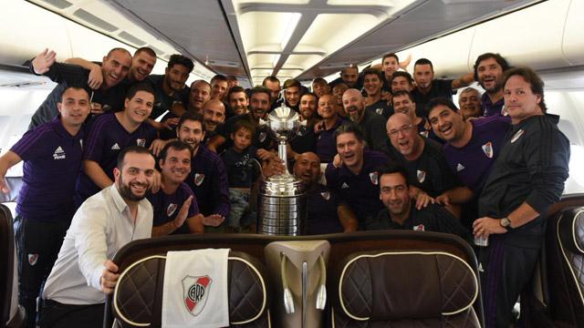 El Campeón de la Libertadores ya está en el país.