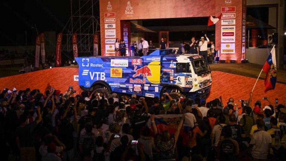 El Kamaz de Karginov fue excluido del rally 2019.