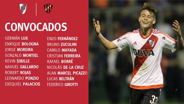 El Colo Marcel Picazzo vuelve a tener su chance en la Primera División de River.