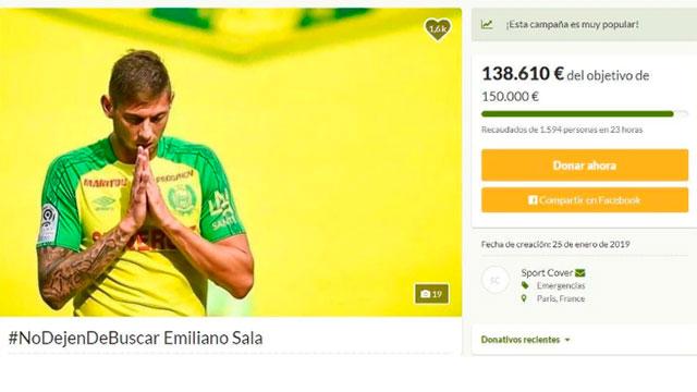 Pocos futbolistas argentinos aportaron dinero para encontrar a Emiliano.
