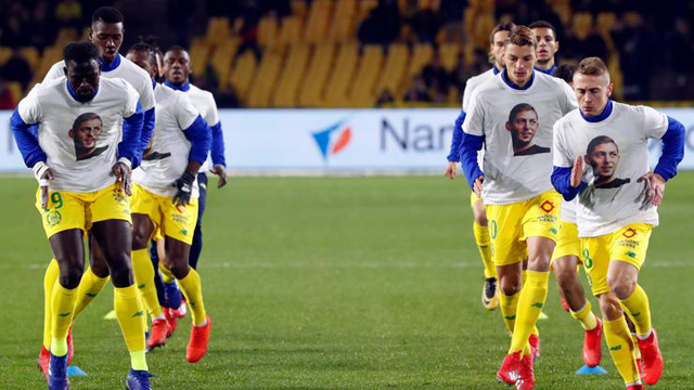 El Nantes le brindó un homenaje de Emiliano Sala.