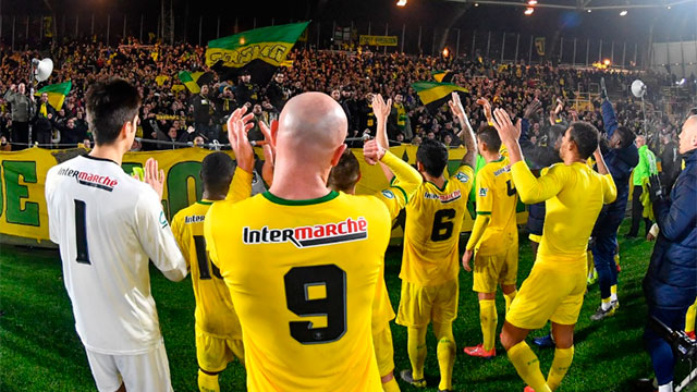 Nantes ganó y la dedicatoria del plantel e hinchas fue para Emiliano Sala.