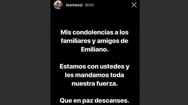El mensaje de Messi para los allegados a Sala.