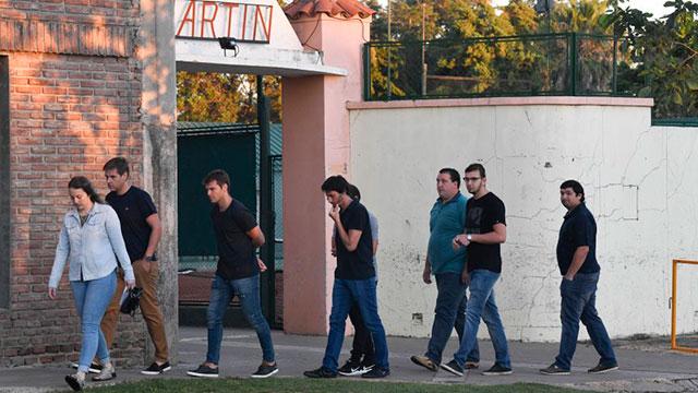 Despiden los restos de Emiliano Sala en la localidad de Progreso.