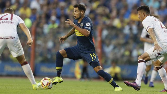 Boca ganó ante lánus en la Bombonera