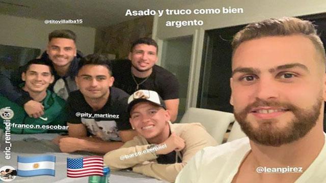 La banda argentina del Altanta United a puro truco y asado en USA.
