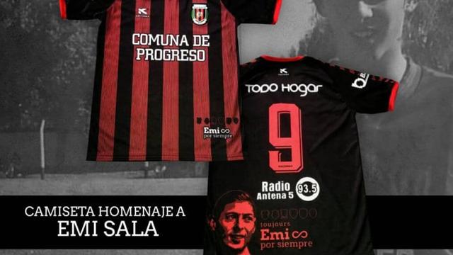 El homenaje para Emiliano Sala en la nueva camiseta de San Martín de Progreso