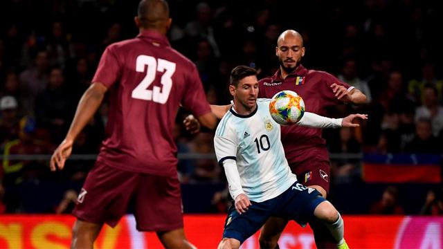 Con Messi en cancha, Argentina pierde ante Venezuela en Madrid
