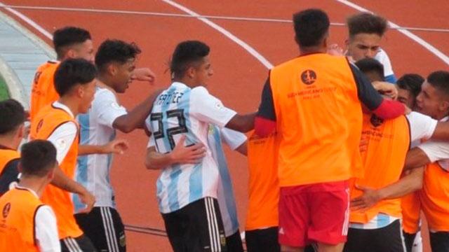 La Selección de Aimar consiguió su primer triunfo en el Sudamericano Sub 17.