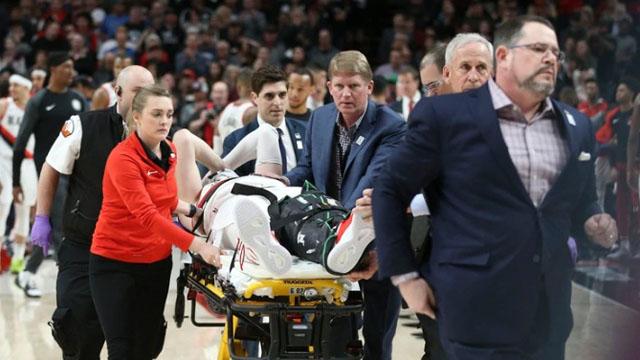 Video: tremenda lesión de una figura de la NBA en pleno partido
