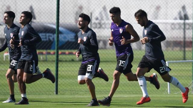 El mariagrandense y el tucumano trotan junto al resto del plantel Millonario.