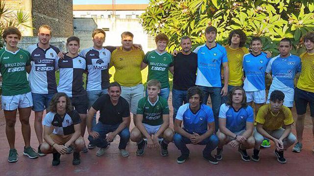 Los equipos del cuadrangular de la UER. (www.tercertiemporugby.com.ar)