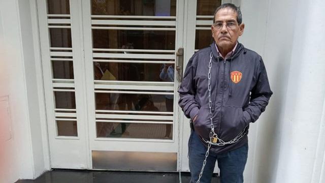 Finalmente Escobar fue atendido por las autoridades de la AFA.