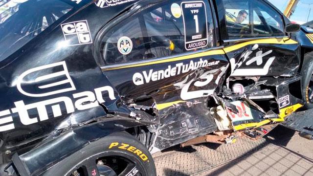 Súper TC2000: Fuerte golpe en la largada del Villicum con Mariano Werner incluído