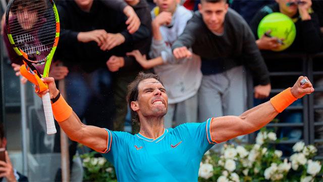 Nadal se impuso a Djokovic y se coronó en el Masters 1000 de Roma.