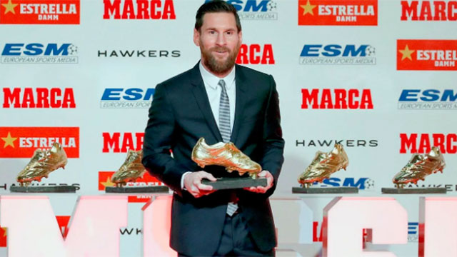 Lionel Messi hizo historia y ganó su sexta Bota de Oro