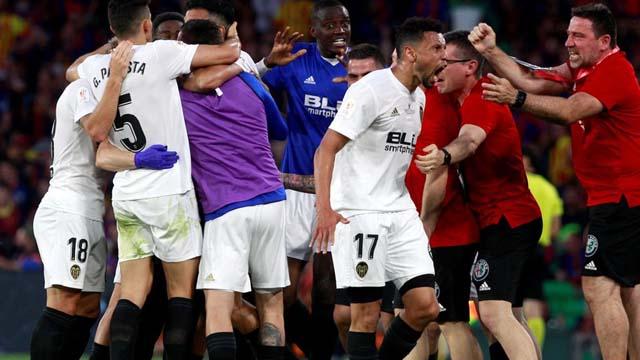 Valencia se impuso ante Barcelona y se coronó campeón de la Copa del Rey