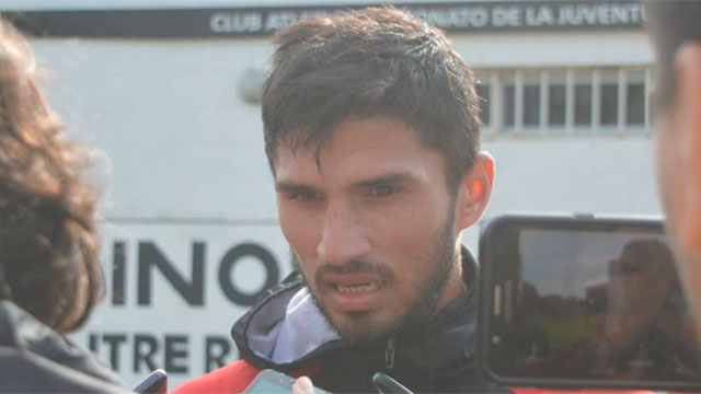"""""""Tenía ganas de volver al fútbol argentino"""", dijo Marín."""
