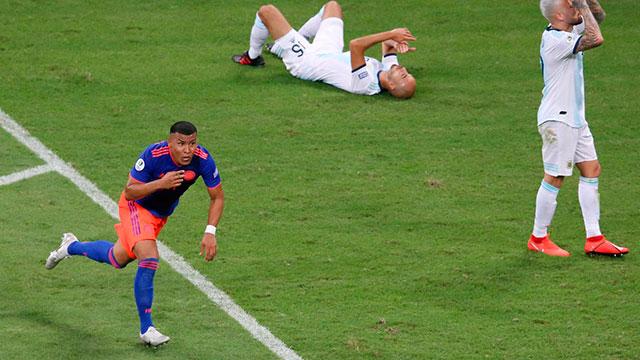 Argentina perdió frente a Colombia en su primera presentación de la Copa América